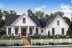 Amazing 3 or 4 bedroom home design with features galore.This plan offers 3 bedrooms along with an optional bonus room which can be used as a 4th bedroom or flex area.First floor offers volume ceilings and open design perfect for entertaining.ll bedrooms enjoy walk-in-closets and both bathrooms are large with room to move.The rear porch is spacious and offers an optional outdoor kitchen.The garage is oversized and includes needed storage space.All of this is packed into a plan that is…