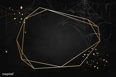 Gold polygon frame on spider web black background vector | free image by rawpixel.com / Aew Halloween Icons, Halloween Vector, Halloween Design, Night Background, Orange Background, Free Spider, Halloween Illustration, Halloween Backgrounds, Purple Backgrounds