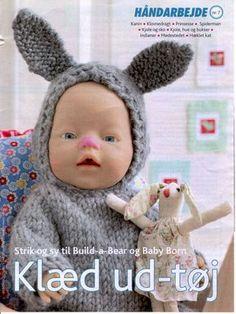 Baby Born & Build-a-Bear 4 - Mariann Vendelbo Borregaard - Picasa Web Albums Knitted Doll Patterns, Knitted Dolls, Knitting Dolls Clothes, Doll Clothes Patterns, Ag Dolls, Barbie Dolls, Baby Knitting, Crochet Baby, Baby Born Clothes