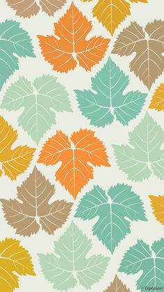 Cute leaves fall background for your iPhone