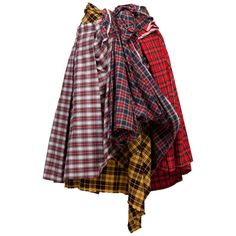 Comme des Garcons Plaid Skirt AD 2005 MET For Sale at 1stDibs Red Skirts, Plaid Skirts, Wool Skirts, Tartan Fashion, Fashion Outfits, Fashion Ideas, Shirt Skirt, Dress Skirt, Red Tartan Skirt