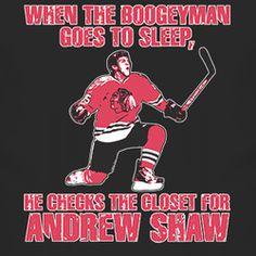 Hockey Chicago Boogeyman Andrew Shaw Hero Overtime T Shirt