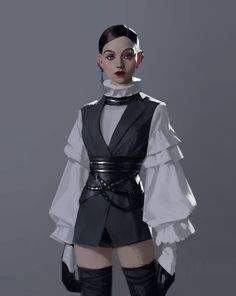 did anyone point out artwork Jedi-Outfit? Steampunk Outfits, Style Steampunk, Steampunk Clothing, Renaissance Clothing, Gothic Steampunk, Victorian Gothic, Steampunk Fashion, Gothic Lolita, Gothic Fashion
