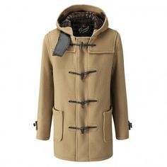 Mid Length Duffle Coat-Tan-36
