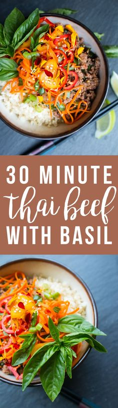 30 Minute Thai Beef with Basil (with healthy for the environment Carbon-Farmed Beef) | Fresh Planet Flavor