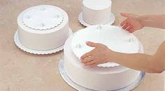 How To Use Cake Separator Plates And Pillars cakepins.com & Push-in Pillar Cake Construction http://www.wilton.com/cakes/tiered ...
