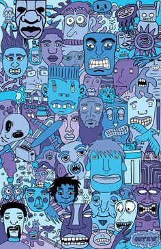 illustrations by matthew hall, via Behance
