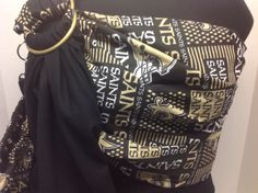 Ring Sling, Baby Sling, New Orleans Saints, Black Pattern, Baby Patterns, Solid Black, Nfl, Etsy Shop, Couture