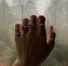 Gems by Heeva Gem Shop, Gold Wire, Looks Great, Sapphire, Gems, Crystals, Rings, Pretty, Silver