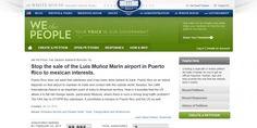 Crean petición contra APP del Aeropuerto en página de Casa Blanca