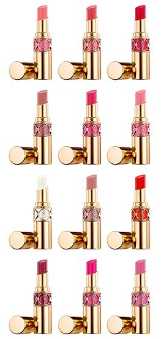 YSL Rouge Volupte Shine Oil-in-Stick Lipstick Made with 65% oils, the deeply hydrating texture instantly melts into lips providing a pop of color, instant