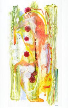 "Irezumi #4, 49""x24"", acrylic on Dura-Lar, 2014 copyright Mary Zeran Upcoming Exhibit ""La Tierra de Mi Corazón… The Land of My Heart"" December 5th - January 15th Artist Reception  Friday, December 5th  5:00-7:00  Gilded Pear Gallery 808 Third Ave SE, Cedar Rapids, IA.  tel:  319-366-0205 gildedpeargallery.com"
