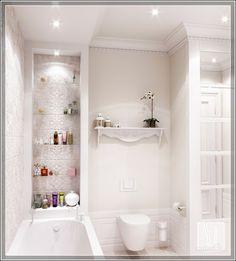 ванная комната в белом цвете .