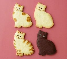 cat shaped cookies