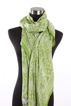 Bali Printed Green Scarf by Mili on @HauteLook