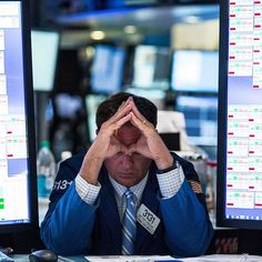 The Dow Jones industrial average has plunged more than 530 points to 16459.75 and ended down 3.1 percent on Friday. The global sell-off was sparked by fears about Chinas slowing economy says the Associated Press. In this photograph by @andrewburton11@gettyimages shot on Aug. 10 2015 after the Dow had suffered five consecutive days of losses a trader is seen on the floor of the New York Stock Exchange. Find out more on time.com/money.  #dowjones #stockexchange # # by time