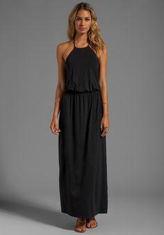 "SUSANA MONACO Light Supplex Arya 40"" Dress in Black"