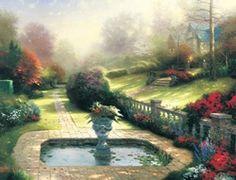Thomas Kinkade - Gardens Beyond Autumn Gate