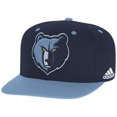 timeless design bd7cc 4bc16 Memphis Grizzlies adidas On-Court Adjustable Snapback Hat - Navy Light  Blue. Snapback Hats ...