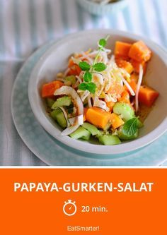 Papaya-Gurken-Salat | http://eatsmarter.de/rezepte/papaya-gurken-salat