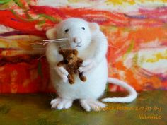 Needle felted mouse- can I keep it...pls!