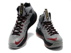 Nike LeBron 10 PS Elite Cool Grey Black Red
