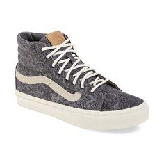 Vans 'Sk8-Hi Slim' Sneaker ($65) ❤ liked on Polyvore featuring