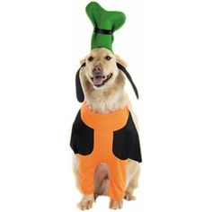 You'll have the goofiest pet around when your dog dresses up in our wacky looking Goofy Dog Outfit. Dress up in another adult or child size Disney outfit and match with your beloved pet. Also, look in