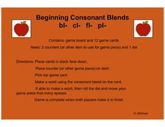 Beginning consonant blends by Diving Into Learning