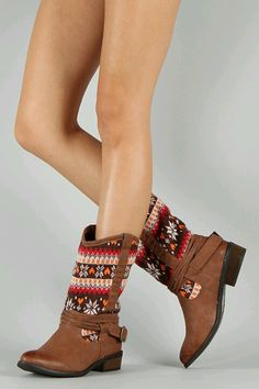 Winter print boots.