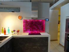 1 led illuminated glass kitchen splashbacks available in multicoloured led cool light or warm. Black Bedroom Furniture Sets. Home Design Ideas