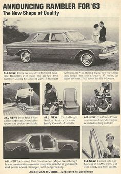1962 ad: Announcing Rambler for '63