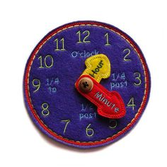 Learning Time Clock, Purple #educational #toys