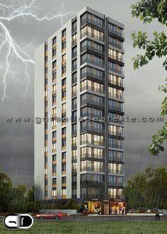 Kaya Apartmanı Projesi, Görselleştirme Çalışması. Proje Müellifi: Mimari Tasarım Grubu