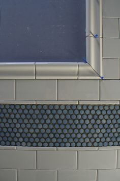 Clear glass penny tile change the color with grout color In stock