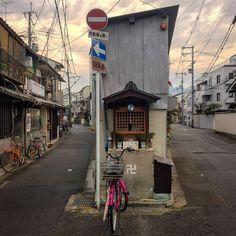 Neighborhood Jizo Shrine With Cd To Keep Away The Crows