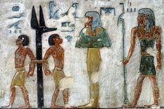 Enemies bound to jackal-headed pillar Egyptian Pharaohs, Ancient Egypt, Mythology, African, Sculpture, History, Egyptians, Antiques, Painting