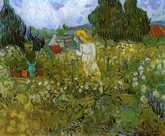 Mademoiselle Gachet in her garden at Auvers-sur-Oise, 1890, Vincent van Gogh  Size: 46x55 cm  Medium: oil on canvas