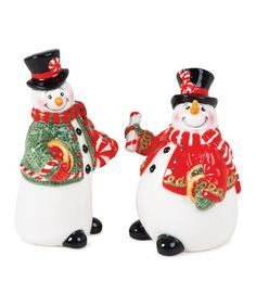 Take A Look At This Sugar Coated Christmas Salt U0026amp; Pepper Shaker Set By