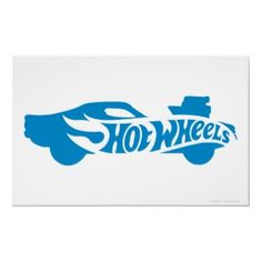 Blue Hot Wheels Car Posters