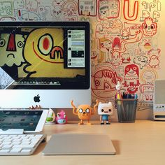 Modern Workspace  :: iMac, iPad - by Sam