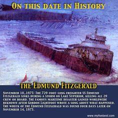 Edmund Fitzgerald, Whitefish Point, Union Pacific Train, Gordon Lightfoot, Big Lake, Rms Titanic, National Archives, Shipwreck, Submarines
