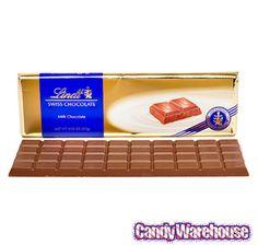 Lindt 10.5-Ounce Chocolate Gold Bar - Swiss Milk: 10-Piece Case