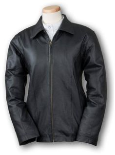 Women's Burk's Bay Lambskin Leather Car Coat Black $182.99 #Burk'sBay