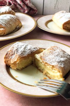 Greek Sweets, Greek Desserts, Greek Recipes, Italian Recipes, Bougatsa Recipe, Baking Supply Store, Custard Desserts, Greek Cooking, Italian Cooking