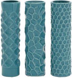 """Bayden Hill Ceramic Vase 3 Asst 3""""W, 12""""H"""