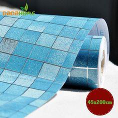 45x200cm DIY Home Decor Kitchen Wallpaper Mosaic Aluminum Foil Self-adhensive Anti Oil Wallpaper For Kitchen Wall Sticker
