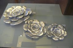 tres verodes fundidos en aluminio. Bronzo Deco, Design, Decor, Deko, Decorating, Decoration
