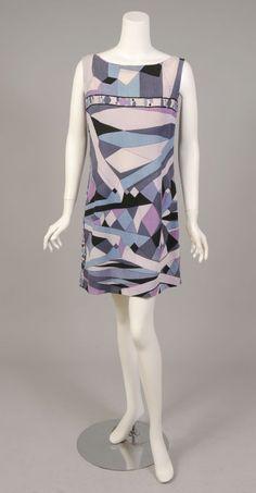 Pucci print sleeveless minidress | Italy, 1960's