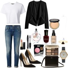 Meeting the parents by karlaeclipse on Polyvore featuring polyvore, moda, style, Proenza Schouler, H&M, Gianvito Rossi, Lacoste, Olivia Burton, Miss Selfridge, Bobbi Brown Cosmetics, Too Faced Cosmetics, Chanel, Lancôme, Valentino and Deborah Lippmann